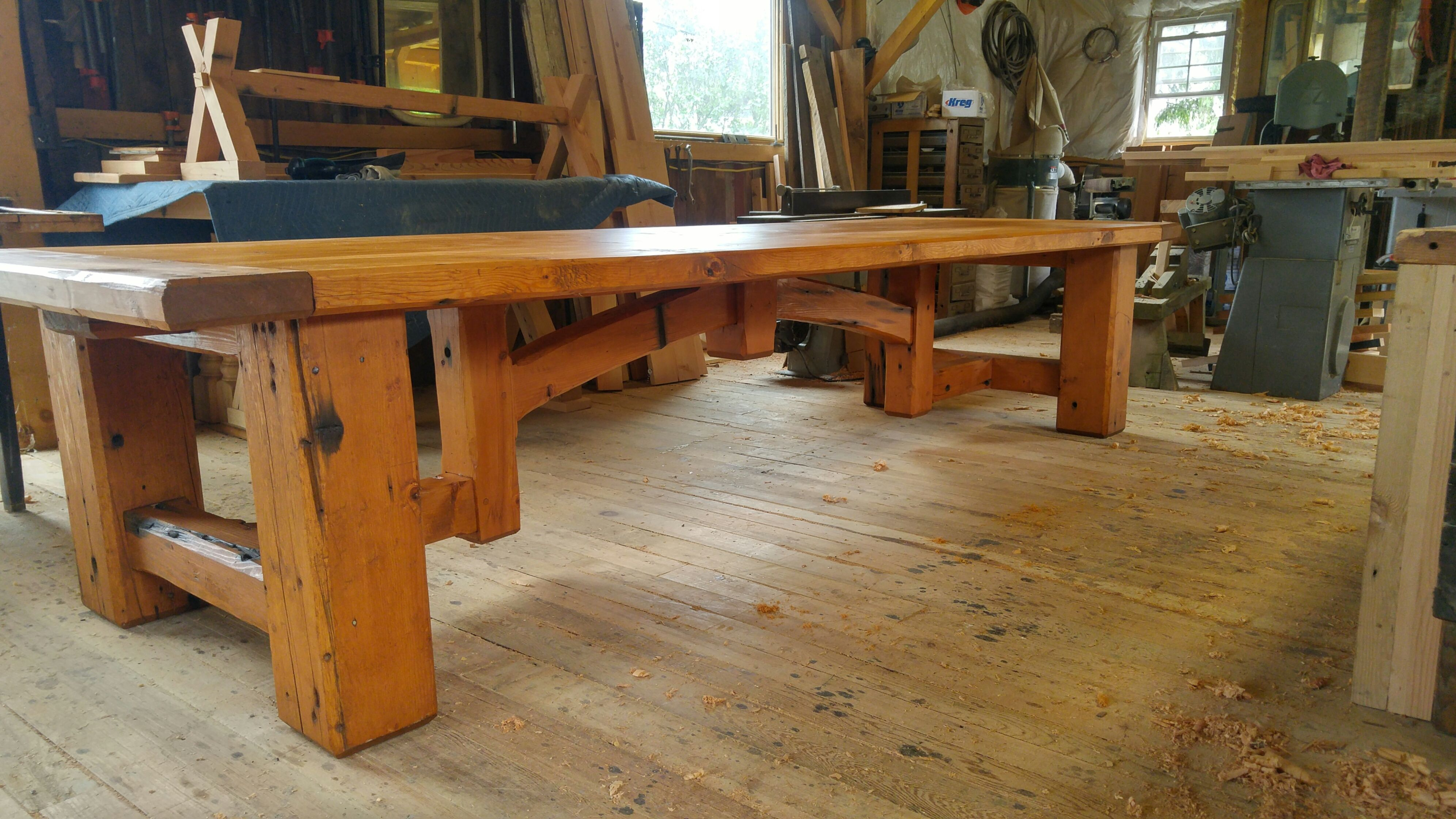 Custom For Sale Now:Hand Crafted Timber Framed 12 Ft.Dining ...