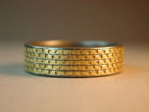 Custom Made Titanium Band Inlaid With 24k Gold