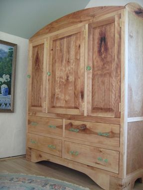 Custom Made Birch Armoire