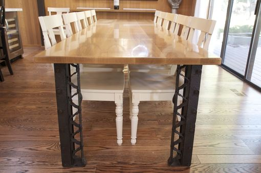 Custom Made Oregon Oak Dining Table - Custom Legs