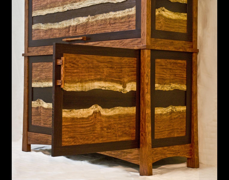 Hand Made Bubinga Amp Wenge Gun Cabinet By Corlis Woodworks