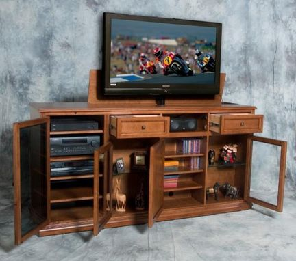 Custom Made Remote Controlled Phoenix Tv Lift Media Cabinet