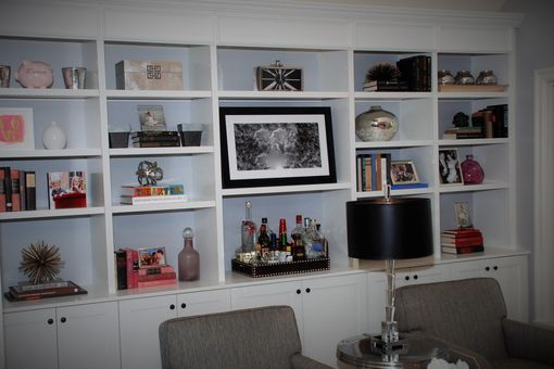 Custom Made Modern Bookcase In White