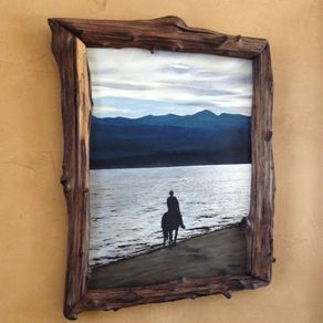 natural edge frames created from driftwood hollow logs by matt faupel