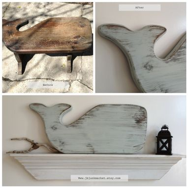 Custom Made Upcycled Whale