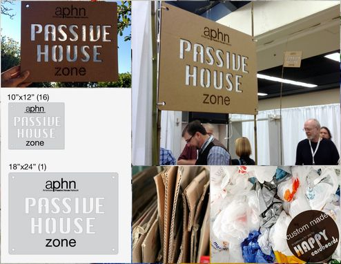 Custom Made 'Passive House' Booth Sign