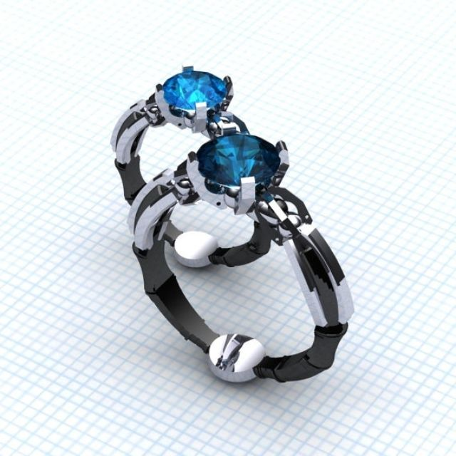 buy a custom the sonic xl solitare made to order from paul michael design custommadecom - Dr Who Wedding Ring
