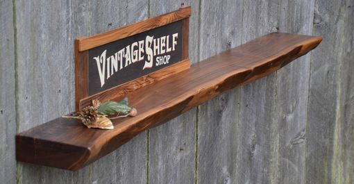 Custom Made Thick Live Edge Walnut Mantel, Floating Shelf, Display Shelf
