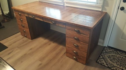 Custom Made Reclaimed Oak Desk