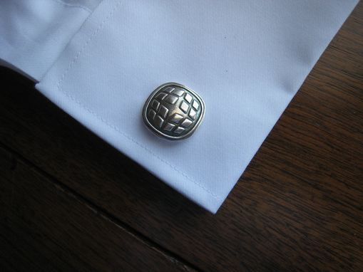 Custom Made Custom Sterling Cufflinks With Corporate Business Or Wedding Logo Design