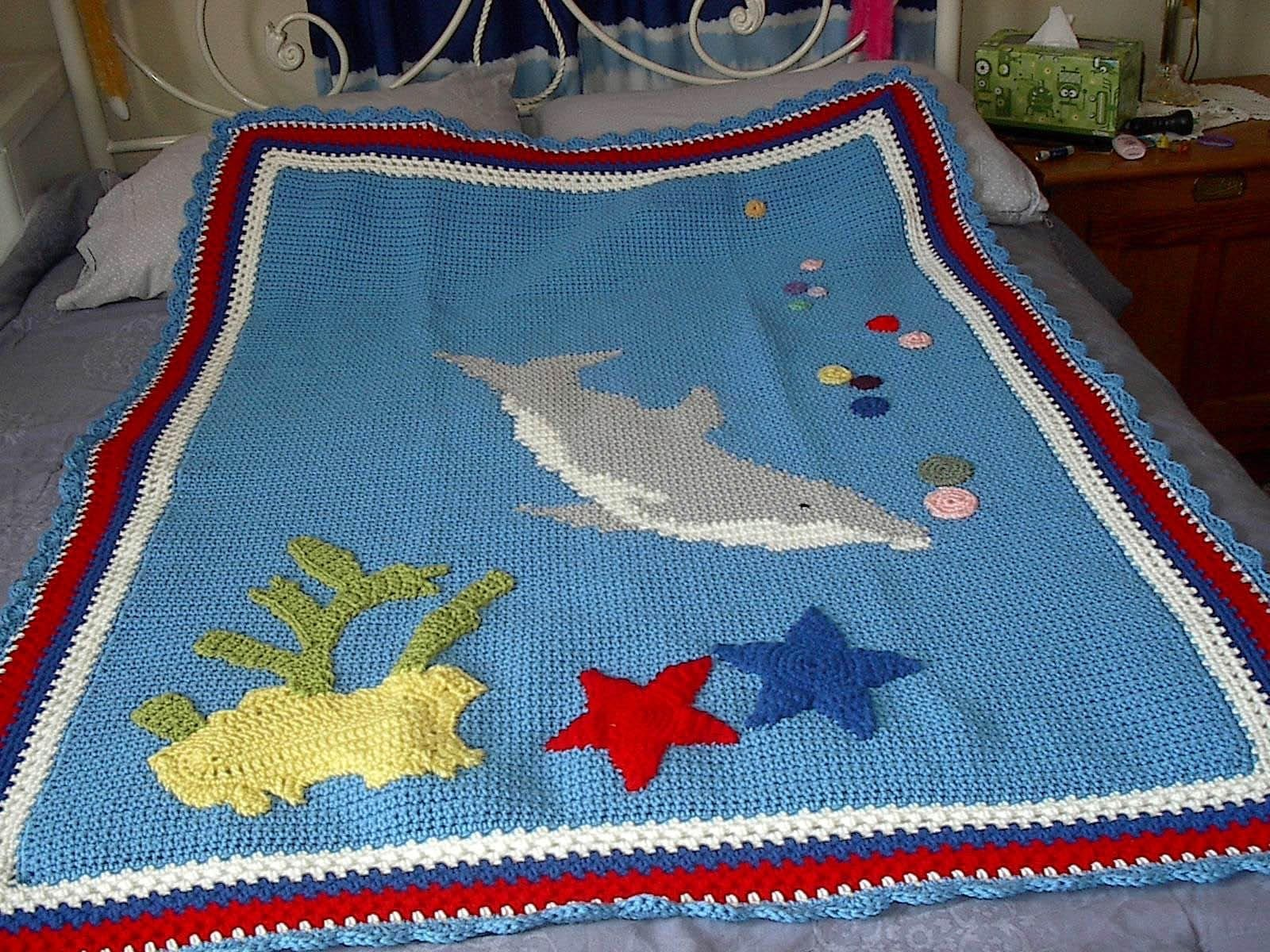 Handmade Dolphin Afghan And Dolphin Toy Mate by Klassic Kreations ...