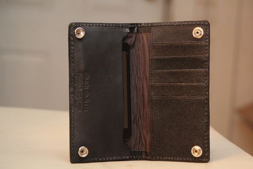 Custom Made Custom Leather Cell Phone Iphone Wallet