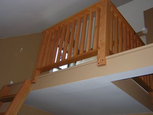 Hand Made Loft Ladder And Railing By Wooden Hammer Llc