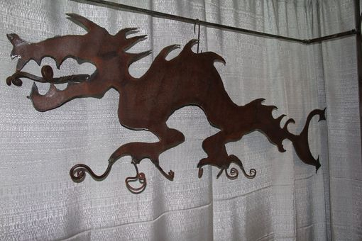 Custom Made Metal Dragon Coat Rack