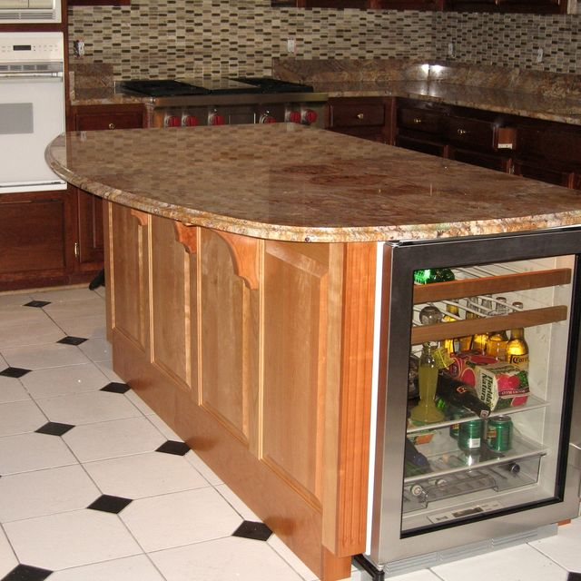 Handmade Kitchen Island With Winecooler And Granite Countertop by ...