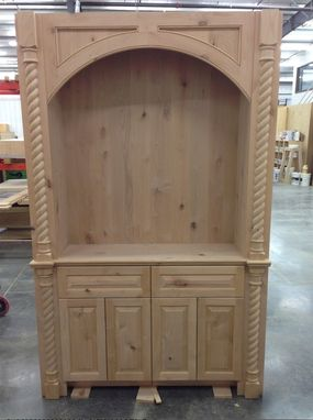 Custom Made Knotty Alder Hutch