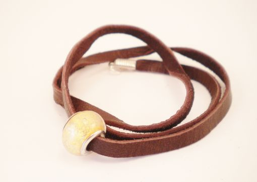 Custom Made Leather Wrap Bracelet