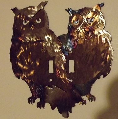 Custom Made Double Owl Wall Switch Plate Cover