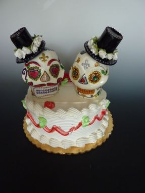 candy skull wedding cake toppers buy a crafted sugar skull wedding cake topper made 12353