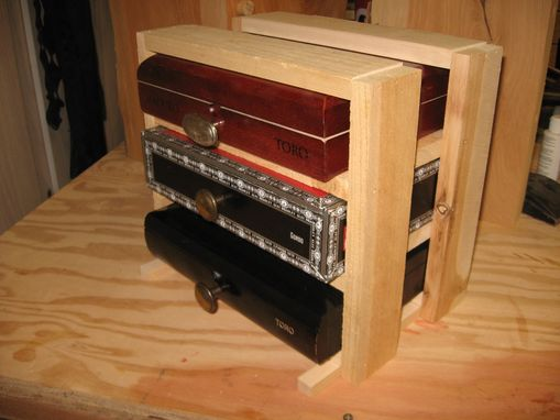 Hand Crafted Cigar Box Chest Of Drawers Jewelry Box And