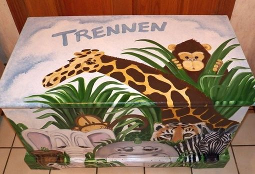 Custom Made Wooden Jungle Toy Chest Custom Designed