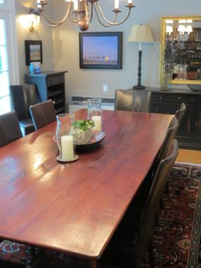 Custom Made Classic 10ft  Farmhouse Dining Table From Reclaimed Barn Wood Wood