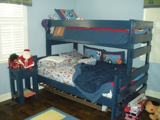 Custom Made Twin Over Full Bunk Bed With Nightstand