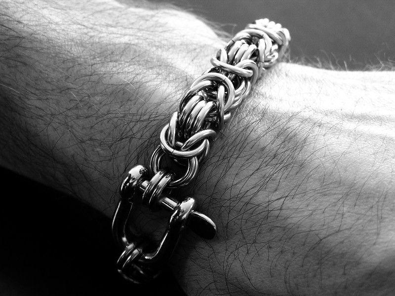 Custom Made Stainless Steel Byzantine 3 Bracelet