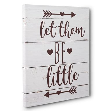 Custom Made Let Them Be Little Canvas Wall Art