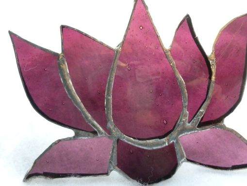 Custom Made Stained Glass Lotus Flower