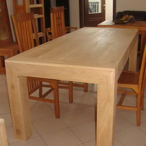 solid oak or walnut extendable dining table - Extendable Wooden Dining Table