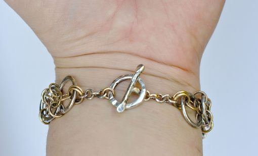 Custom Made Yggdrasil Bracelet With Handmade Sterling Silver And Bronze Chain