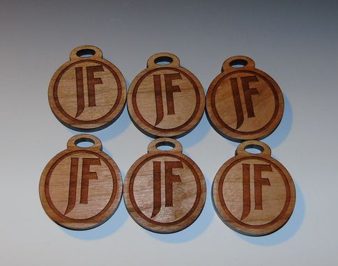 Custom Made Laser Etched Cherry Wood Pendants