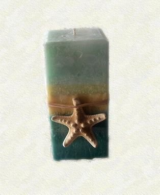 Custom Made Sea Grass Pillar Candle