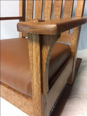 Custom Made Arts And Crafts Rocking Chair