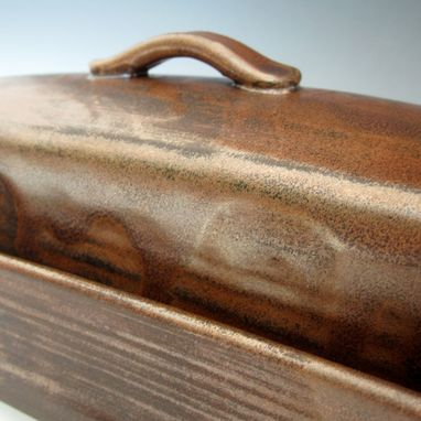 Custom Made Pottery Butter Dish In Bronze