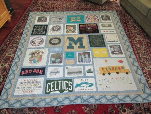Custom Made Queen Size T Shirt/ Memory Quilt