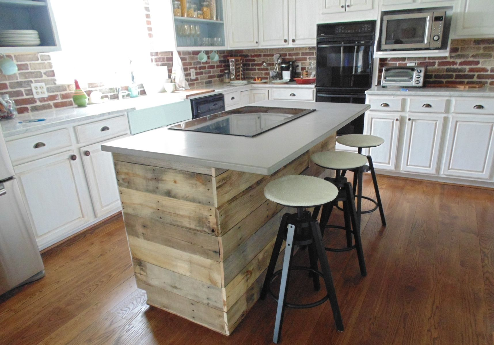 Uncategorized Kitchen Island Wall custom reclaimed wood interest wall or island covering by wonderland woodworks custommade com