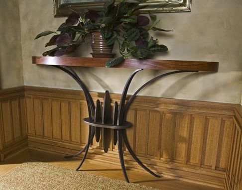Custom Made Oval Consol Table