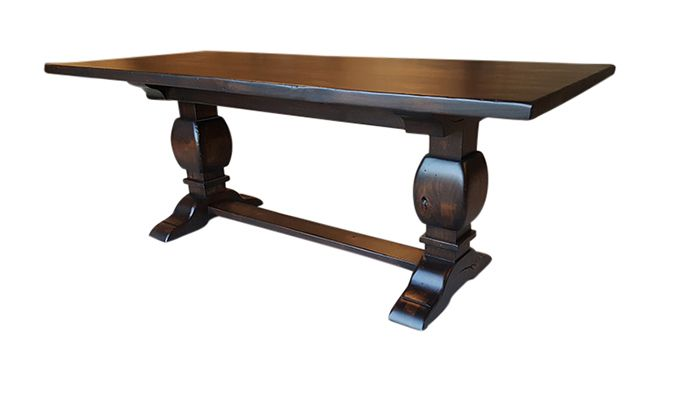 Buy a Custom Rustic Alder Trestle Table made to order  : 74591140645 from www.custommade.com size 700 x 394 jpeg 18kB