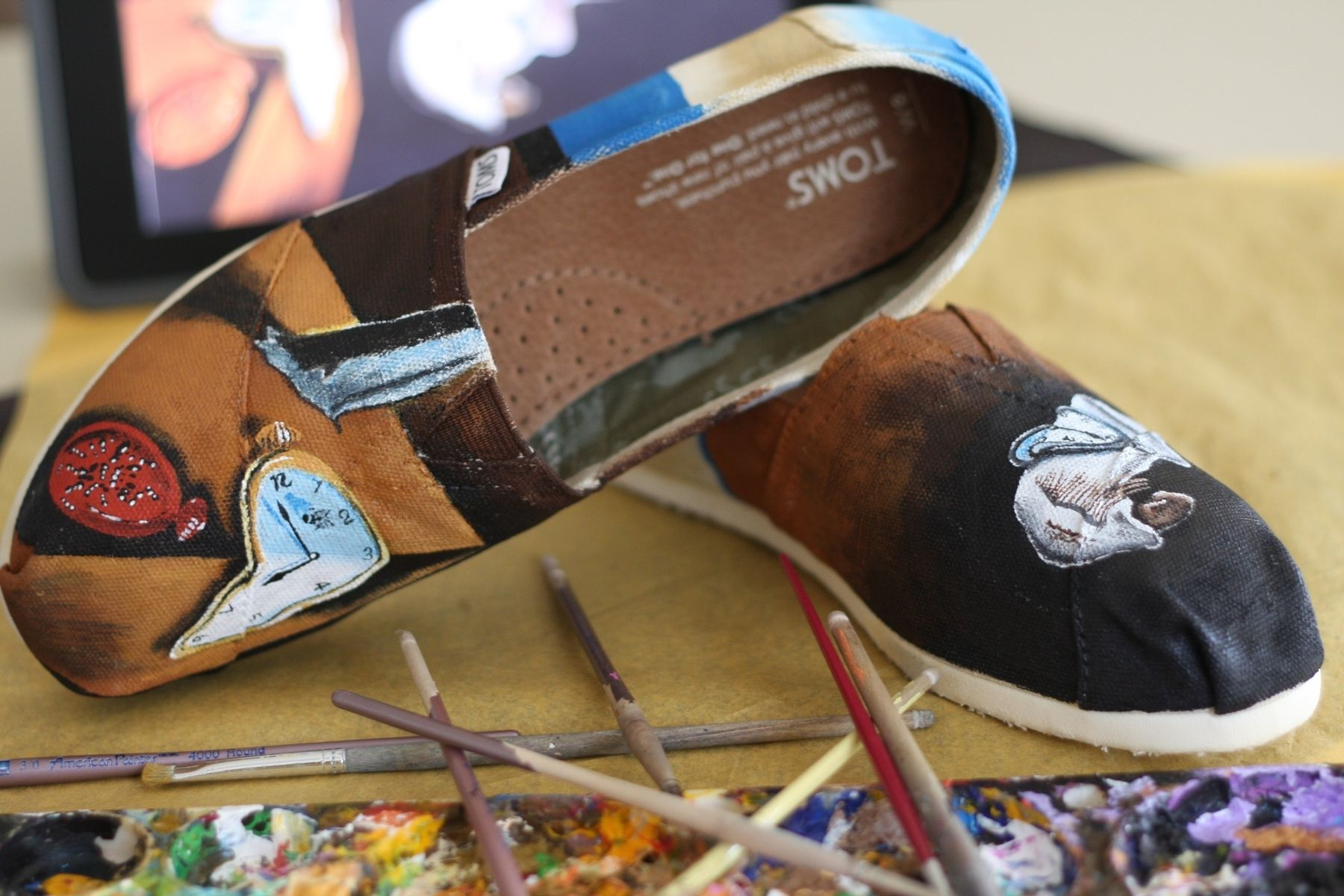 Hand Made Custom Painted Salvador Dali Persistence Of