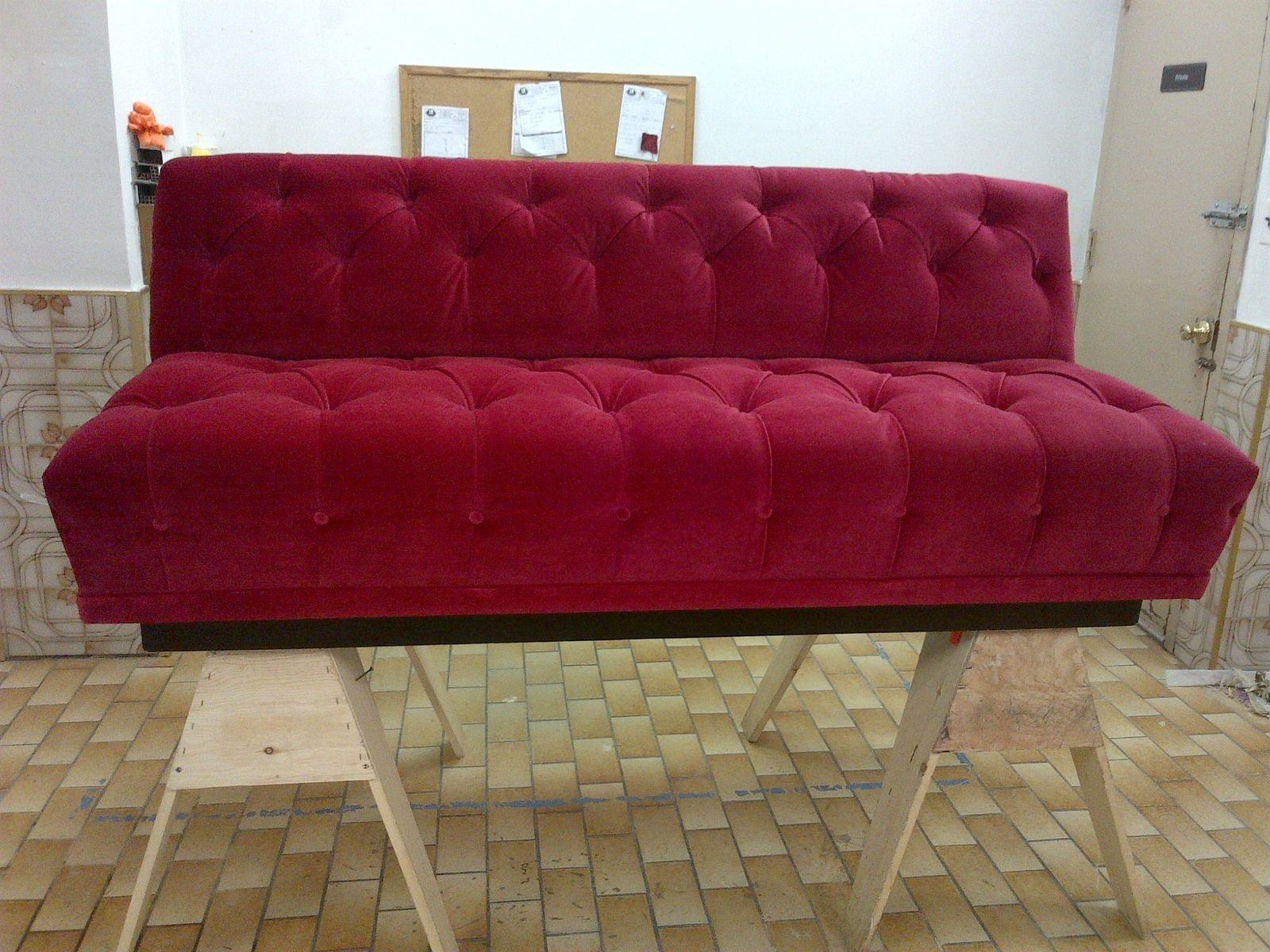 Hand Made Tufted Sofa by PLAZA HOME INTERIORS