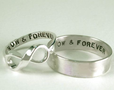 Custom Made Personalized Infinity And Posey Rings