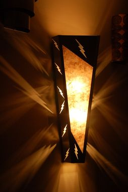 Custom Made Lightning Bolt Sconce