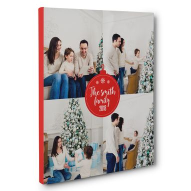 Custom Made Family Christmas Ornamental Personalized Canvas Wall Art