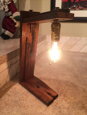 Custom Made Barn Wood Lamps
