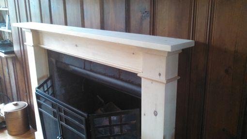 Custom Knotty Pine Fireplace Mantel And Surround By Dan
