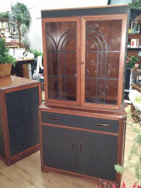 Custom Made Art Deco China Cabinet