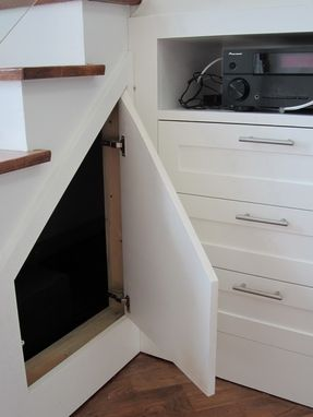 Custom Made Under Stair Entertainment Center