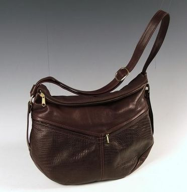 Custom Made Jessica Dark Brown Leather Handbag